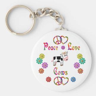 PEACE LOVE COWS KEY CHAIN