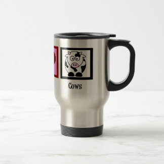 Peace Love Cows Mugs