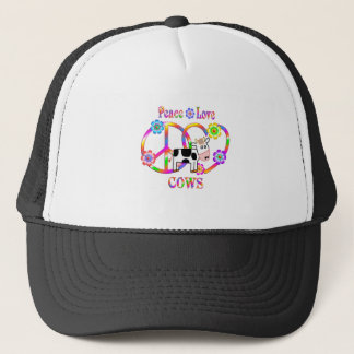 Peace Love Cows Trucker Hat