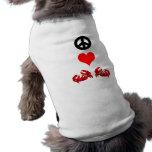 Peace love crabs doggie tshirt