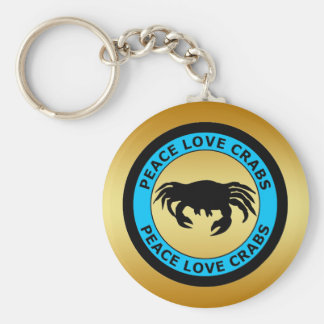PEACE LOVE CRABS KEYCHAINS