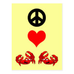 Peace love crabs postcard
