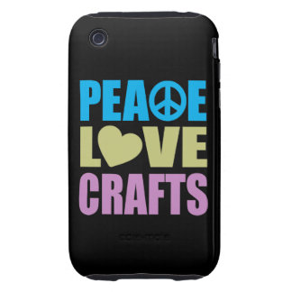 Peace Love Crafts Tough iPhone 3 Cover
