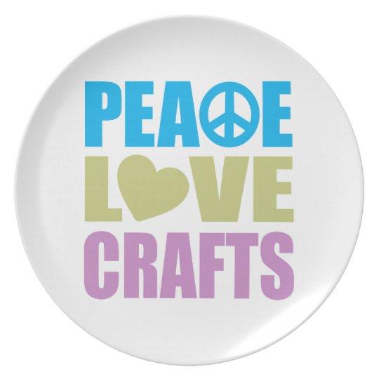 Peace Love Crafts Plate
