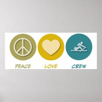 Peace Love Crew Poster