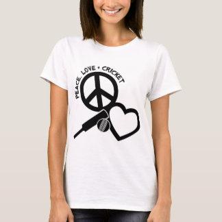 Peace-Love-Cricket, black T-Shirt