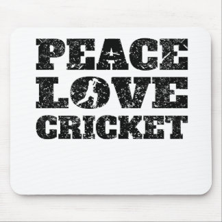Peace Love Cricket (Distressed) Mouse Pad