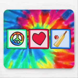 Peace, Love, Cricket Mouse Pad