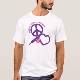 Peace-Love-Cricket, purple T-Shirt