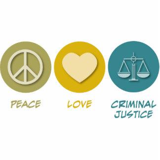 Peace Love Criminal Justice Cut Out