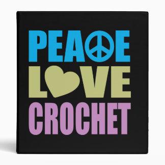 Peace Love Crochet 3 Ring Binder