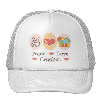 Peace Love Crochet Hat