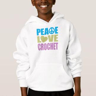 Peace Love Crochet Hoodie