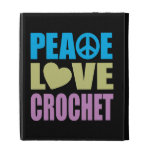 Peace Love Crochet iPad Folio Case