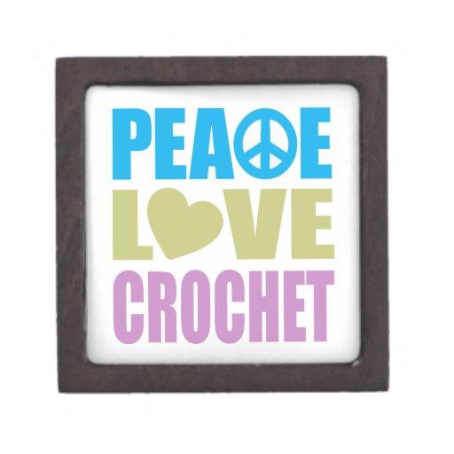 Peace Love Crochet Premium Jewelry Boxes