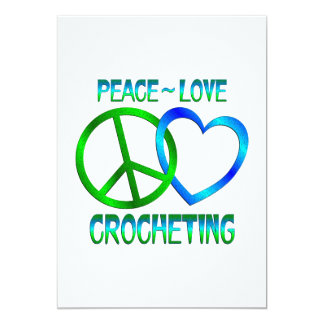 Peace Love CROCHETING Card
