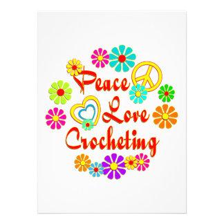 PEACE LOVE Crocheting Invites