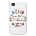PEACE LOVE CROCHETING iPhone 4 CASES