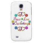 PEACE LOVE CROCHETING SAMSUNG GALAXY S4 COVER