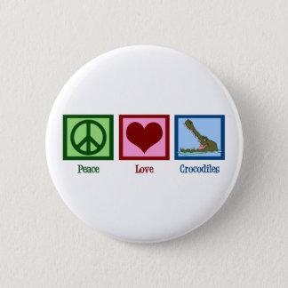 Peace Love Crocodiles Button