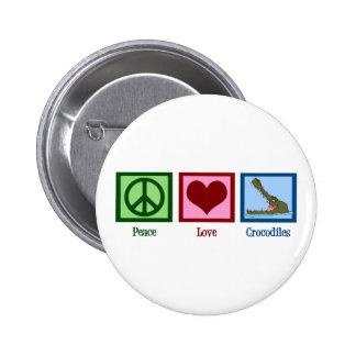 Peace Love Crocodiles Pins