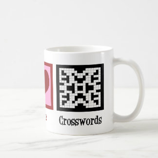 Peace Love Crosswords Coffee Mug