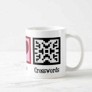 Peace Love Crosswords Mugs