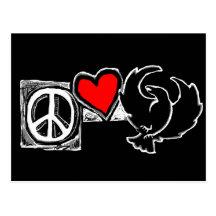 Peace, Love, Crowfoot Post Cards