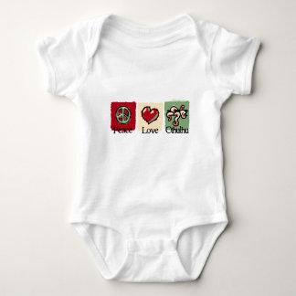 Peace. Love. Cthulhu. Baby Bodysuit