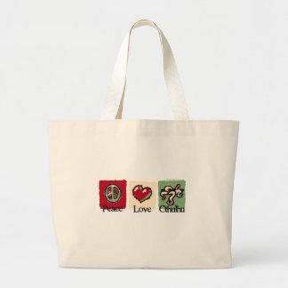 Peace. Love. Cthulhu. Jumbo Tote Bag