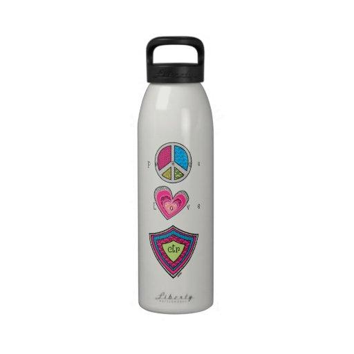 Peace Love CTR Water Bottle