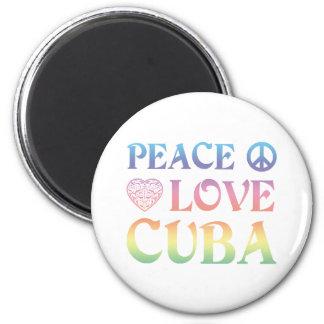 Peace Love Cuba Magnet