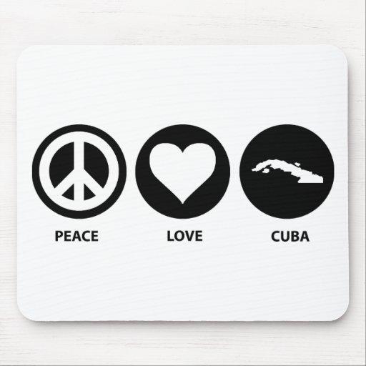 Peace Love Cuba Mouse Pad