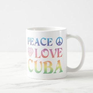 Peace Love Cuba Coffee Mugs