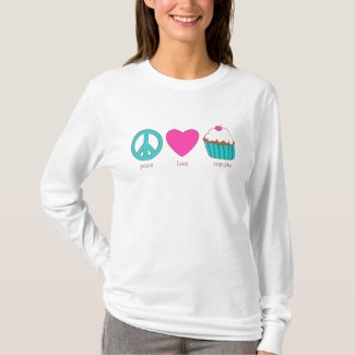 Peace, Love, Cupcake T-Shirt