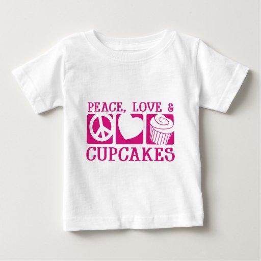 Peace Love Cupcakes Baby T-Shirt