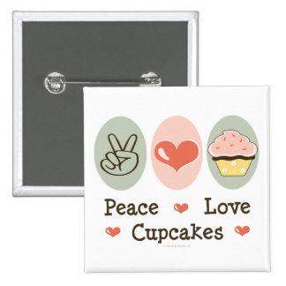 Peace Love Cupcakes Button