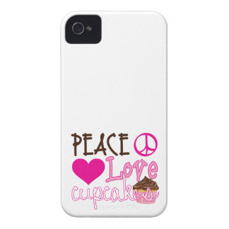 Peace, Love, Cupcakes iPhone 4 Covers
