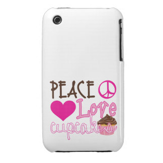 Peace, Love, Cupcakes iPhone 3 Cover