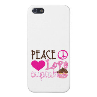 Peace, Love, Cupcakes Cover For iPhone SE/5/5s