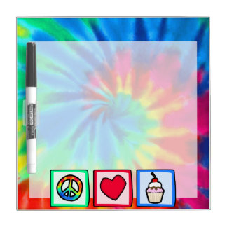 Peace, Love, Cupcakes Dry Erase White Board