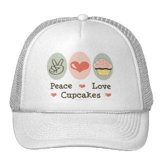 Peace Love Cupcakes Hat