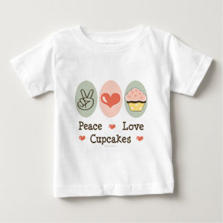 Peace Love Cupcakes Infant Tee Shirt