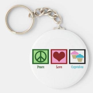 Peace Love Cupcakes Keychain