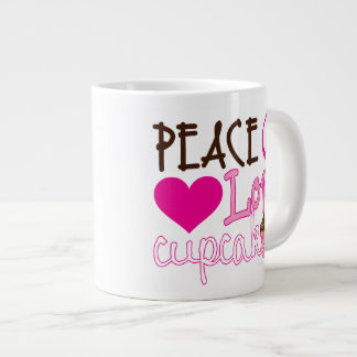 Peace, Love, Cupcakes Large Coffee Mug