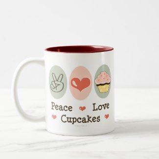 Peace Love Cupcakes Mug mug