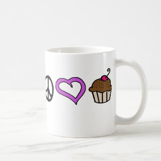 Peace, Love & Cupcakes! Mug Purple