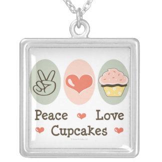Peace Love Cupcakes Necklace