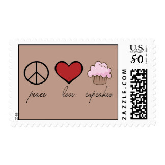 Peace Love Cupcakes Postage