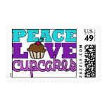 Peace, Love & Cupcakes! Postage Stamps
